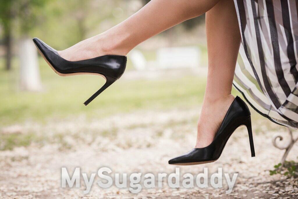 scarpe nere con il tacco